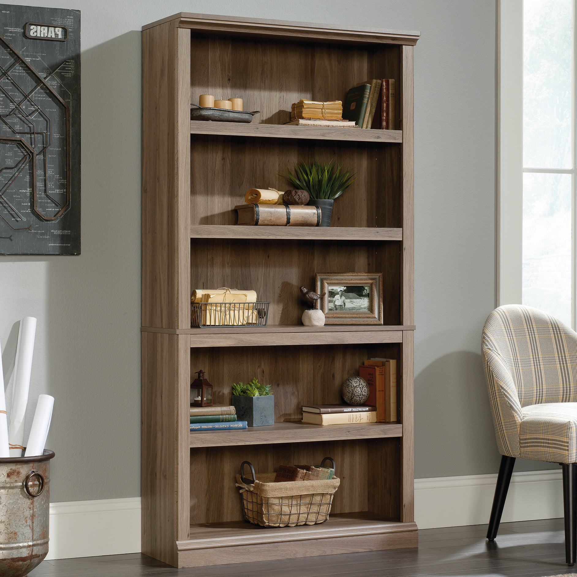 Abigail Standard Bookcase In Fashionable Orford Standard Bookcases (View 13 of 20)
