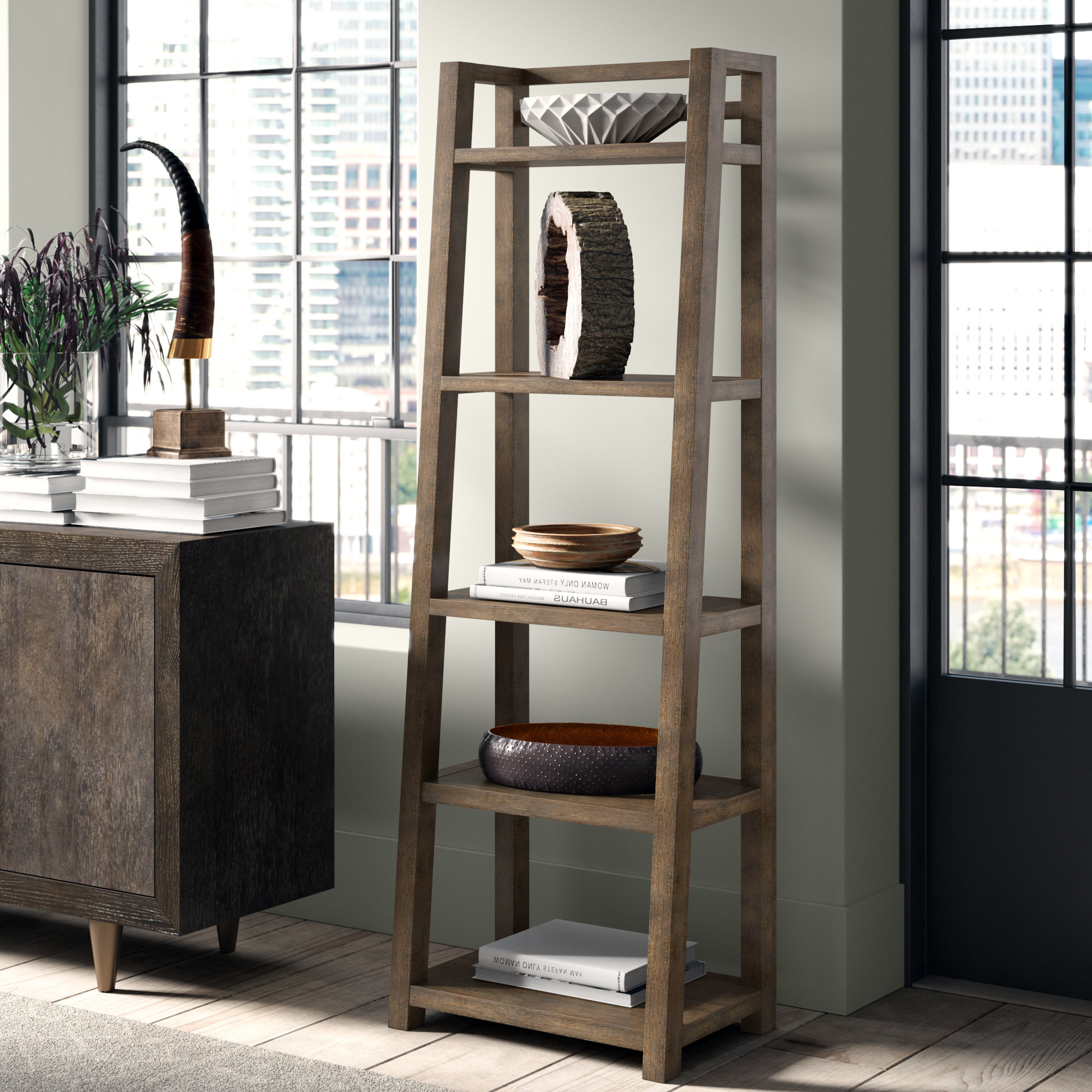 Acacia Leaning Bookcases You'll Love In 2019 (Gallery 11 of 20)