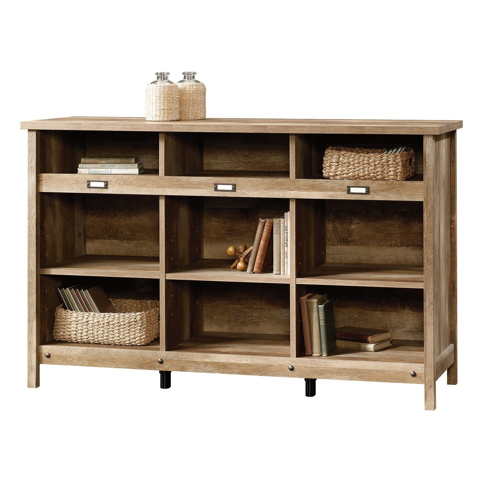 Adept Storage Credenza – Craftsman Oak – Sauder, Brown Within Famous Finkelstein Cube Bookcases (Gallery 11 of 20)
