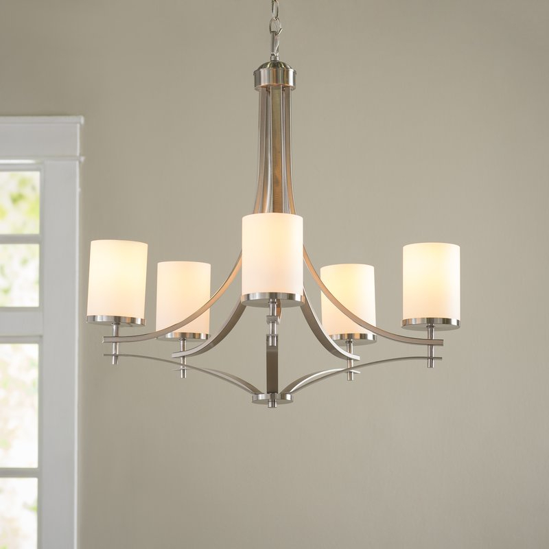 Agnes 5 Light Shaded Chandelier With Regard To Most Recent Newent 5 Light Shaded Chandeliers (View 3 of 25)