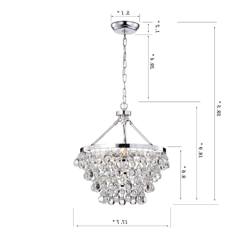 Ahern 5 Light Crystal Chandelier Throughout Newest Verdell 5 Light Crystal Chandeliers (Gallery 16 of 25)