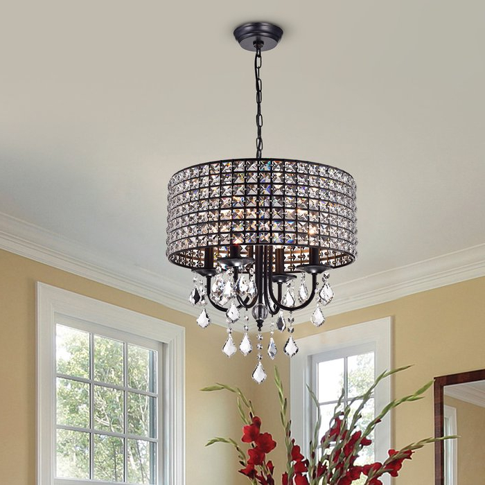 Albano 4 Light Crystal Chandelier For Famous Albano 4 Light Crystal Chandeliers (Gallery 2 of 25)