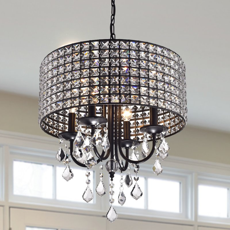 Albano 4 Light Crystal Chandelier Inside Most Up To Date Sinead 4 Light Chandeliers (View 2 of 25)