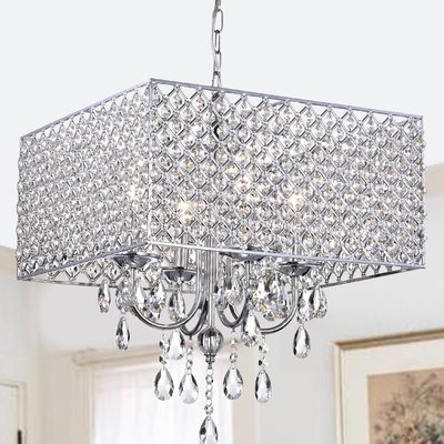 Albano 4 Light Crystal Chandeliers For Latest Albano 4 Light Crystal Chandelier (View 10 of 25)