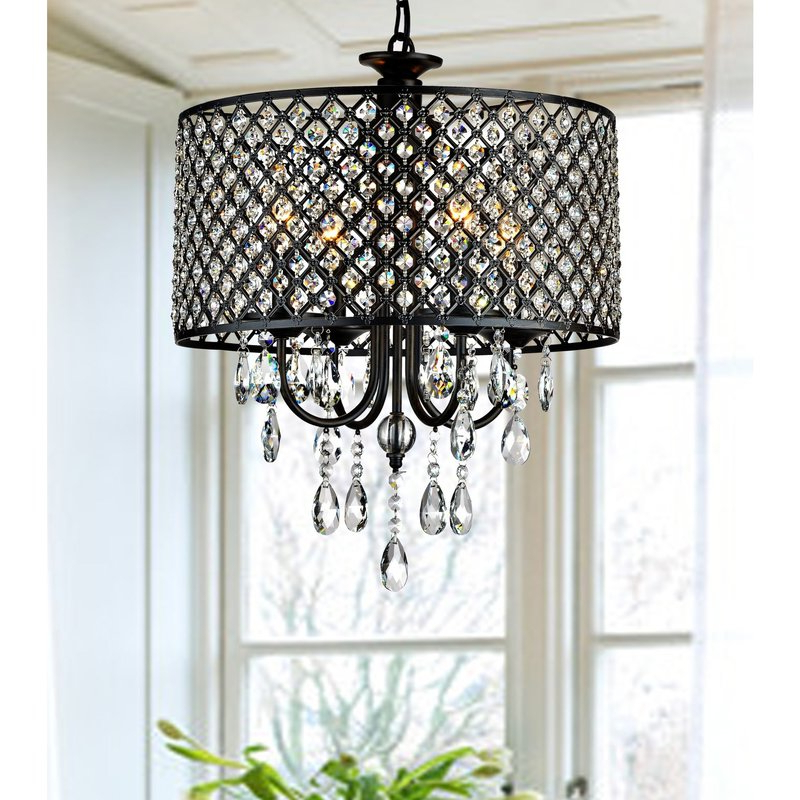 Albano 4 Light Crystal Chandeliers Within Latest Mckamey 4 Light Crystal Chandelier (Gallery 7 of 25)