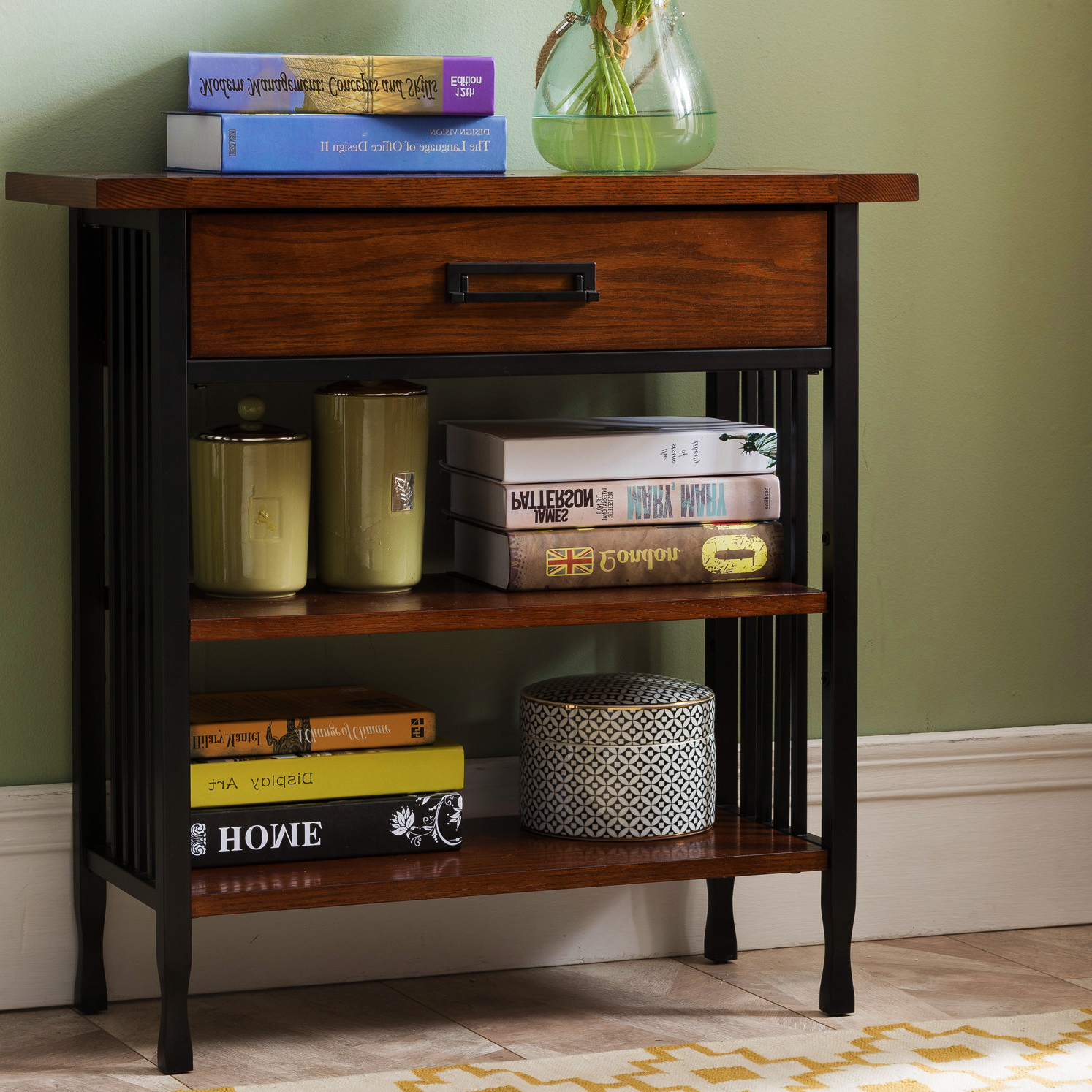 Alcott Hill Perao Foyer Standard Bookcase For Famous Maryln Standard Bookcases (View 19 of 20)