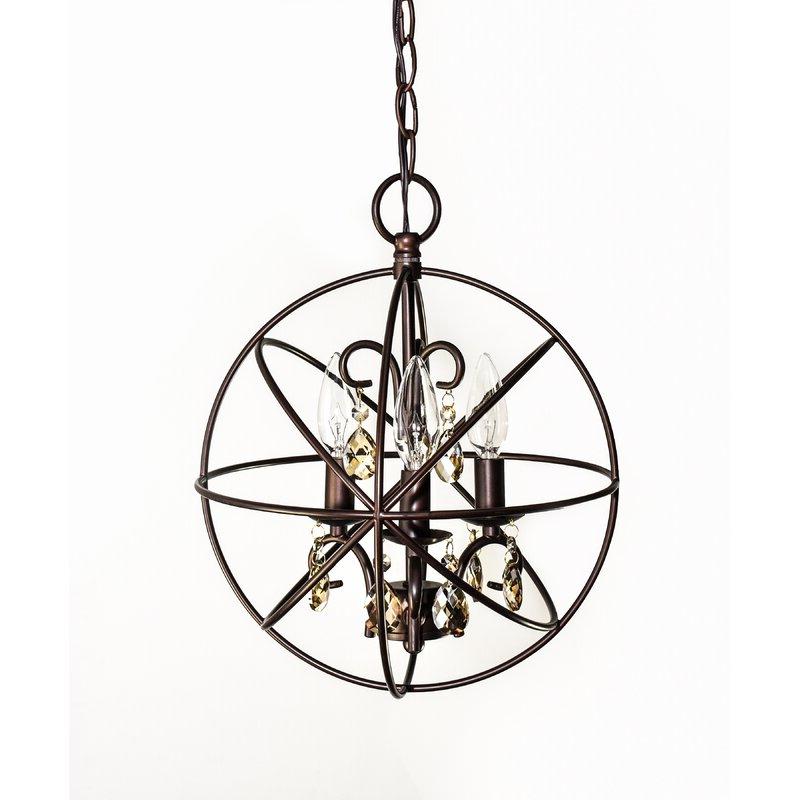 Alden 3 Light Globe Pendant With Most Recently Released Alden 6 Light Globe Chandeliers (Gallery 19 of 25)
