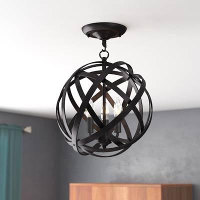 Alden 3 Light Single Globe Chandelier For Well Known Alden 3 Light Single Globe Pendants (View 13 of 25)