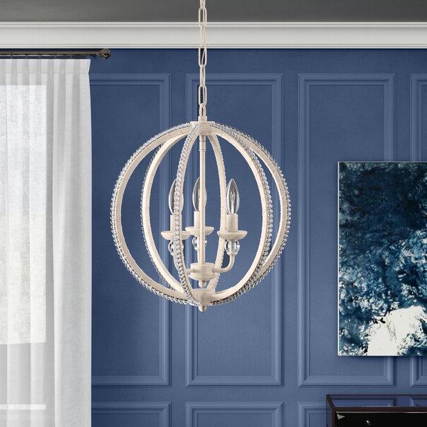 Alden 3 Light Single Globe Pendants In Most Popular Clarice 3 Light Globe Chandelier (View 16 of 25)