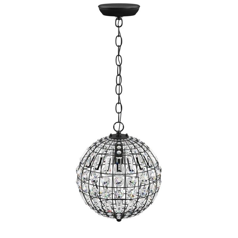 Alden 3 Light Single Globe Pendants Intended For Most Popular Elivra 1 Light Single Globe Pendant (View 18 of 25)