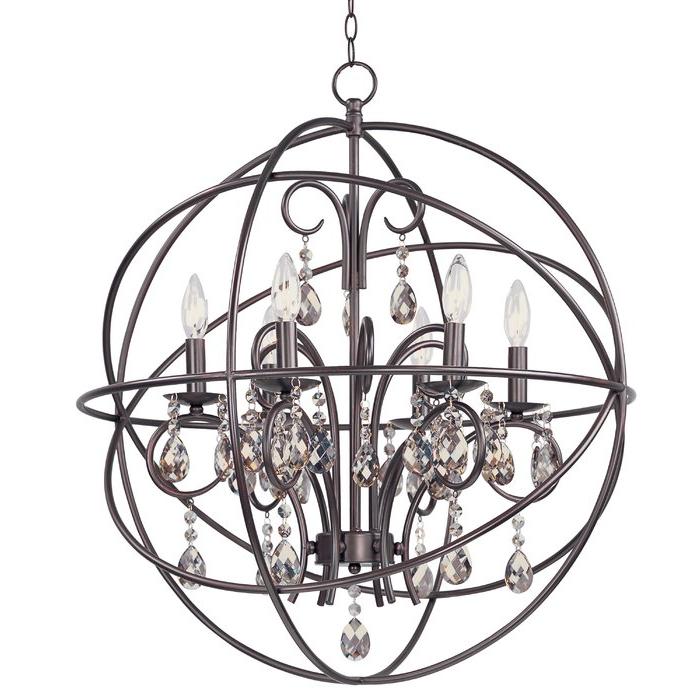 Alden 3 Light Single Globe Pendants Within Well Liked Alden 6 Light Globe Chandelier (View 20 of 25)