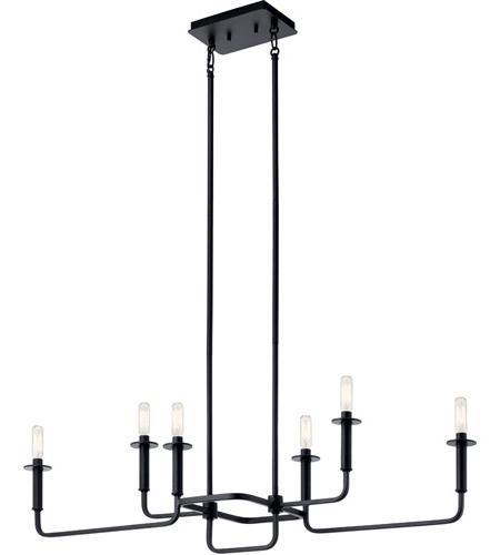 Alden 6 Light Globe Chandeliers Regarding Newest Alden 6 Light 11 Inch Black Chandelier Ceiling Light (View 8 of 25)