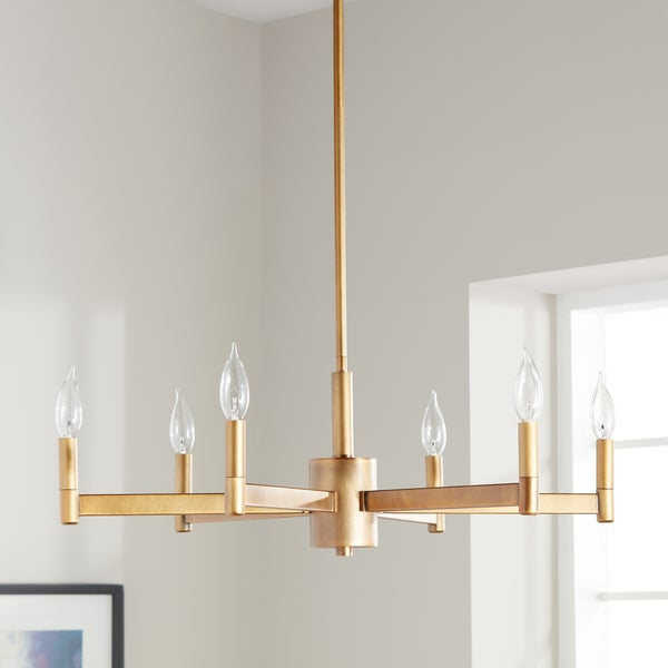 Alden 6 Light Globe Chandeliers With Preferred Shop Kichler Lighting Erzo Collection 6 Light Natural Brass (View 14 of 25)