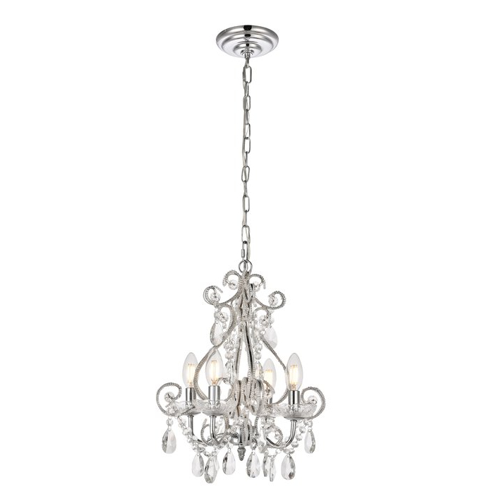 Aldora 4 Light Candle Style Chandeliers For Preferred Burcott 4 Light Candle Style Chandelier (View 7 of 25)