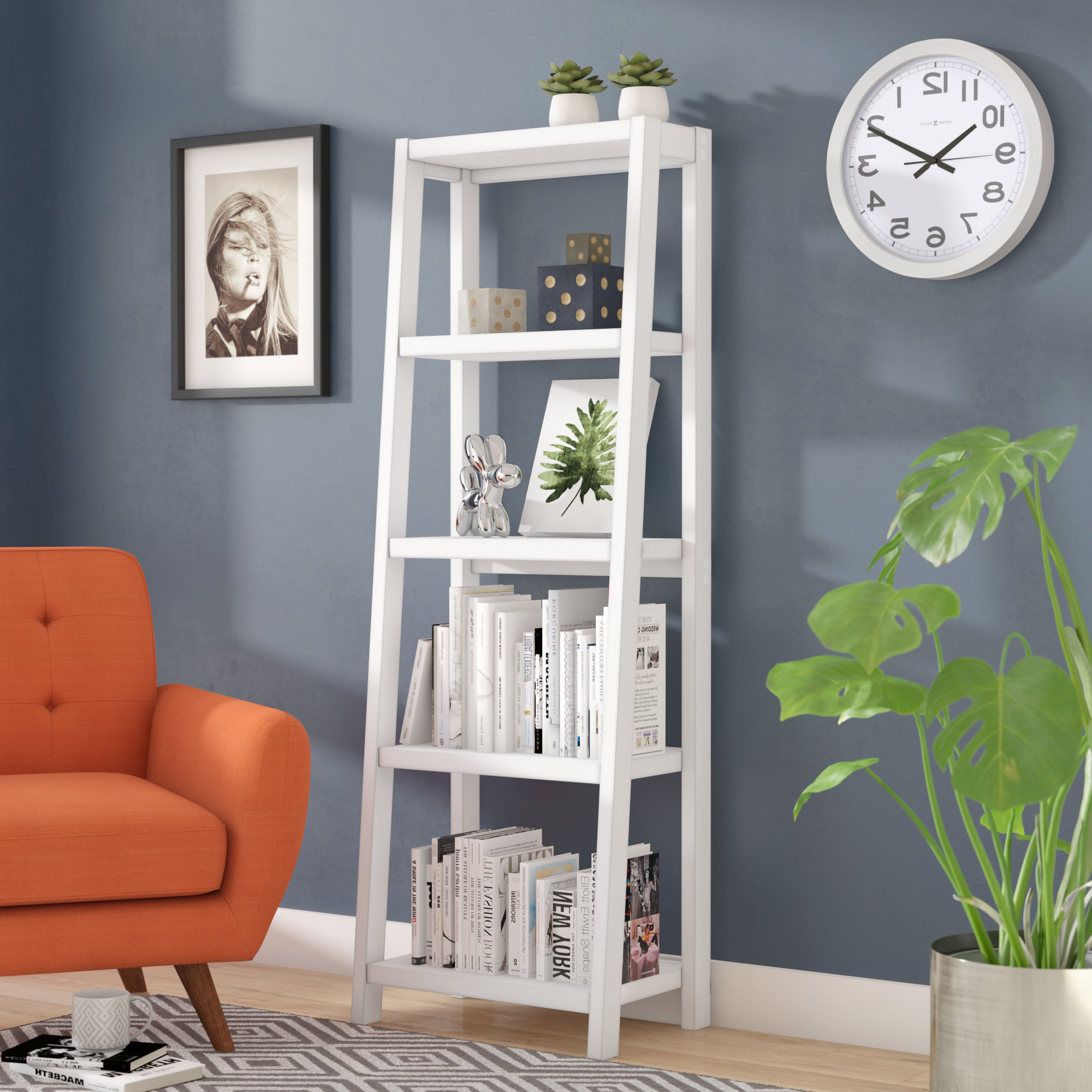 Alfred Ladder Bookcases Inside 2019 Isla Ladder Bookcase (View 3 of 20)