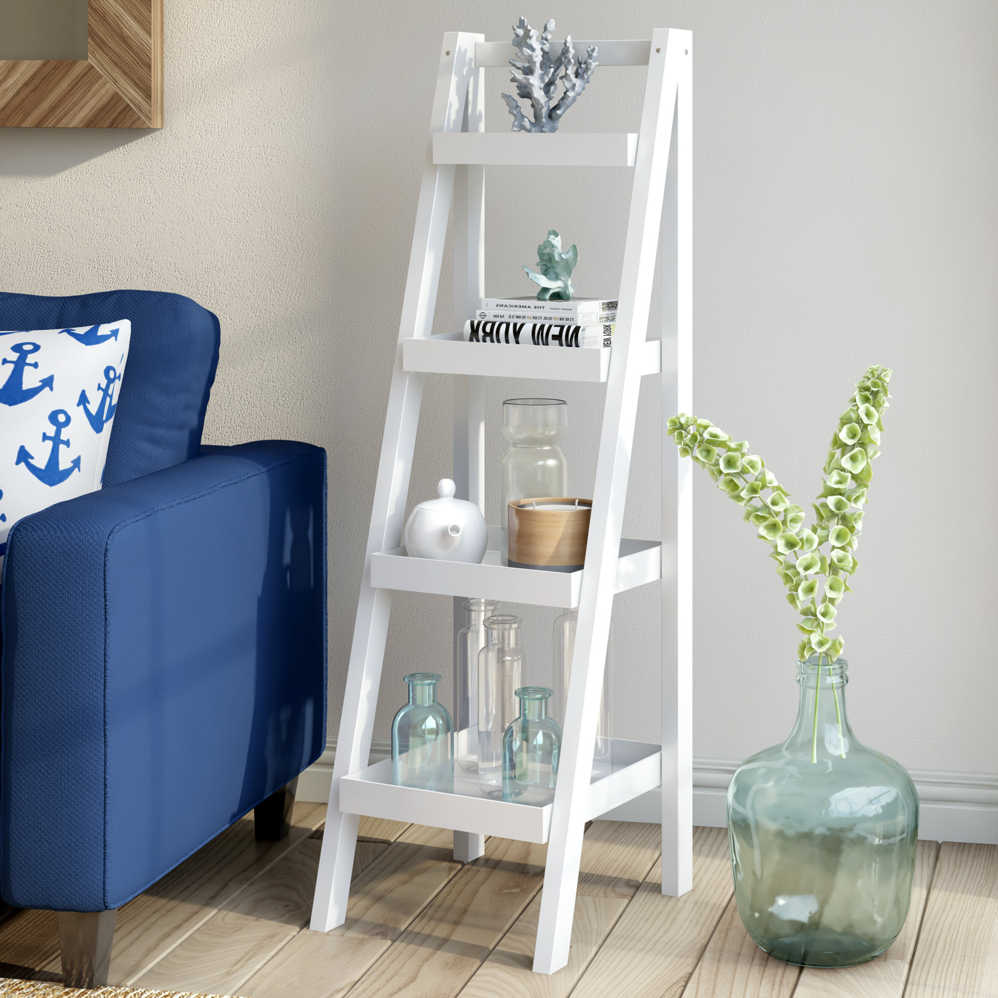 Alfred Ladder Bookcases Pertaining To Fashionable Hensley Ladder Bookcase (View 5 of 20)