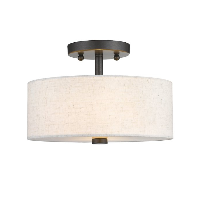 Alina 2 Light Semi Flush Mount With Regard To Trendy Alina 5 Light Drum Chandeliers (Gallery 14 of 25)