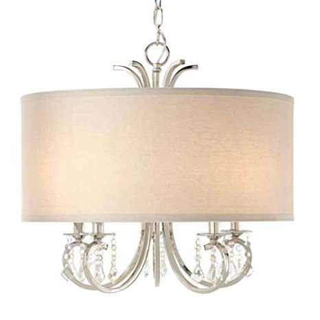 Alina 5 Light Drum Chandeliers For Well Liked Home Decorators Collection 5 Light Polished Nickel Drum Pendant Chandelier With Beads (View 21 of 25)