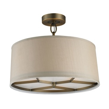 Alverez 4 Light Drum Chandeliers Pertaining To Widely Used Baxter Ceiling Semi Flush Mount (View 14 of 25)