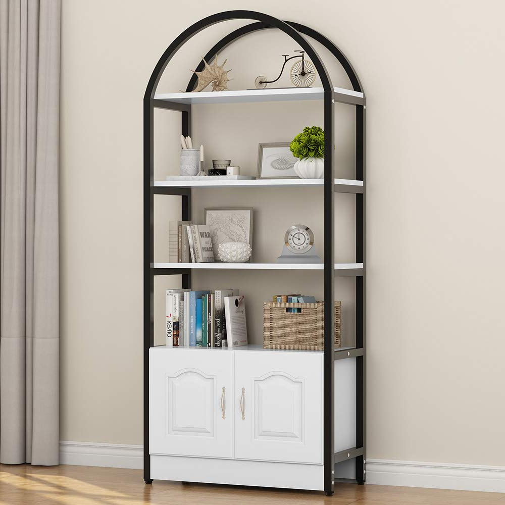 Amazon: Little Tree 4 Shelf Bookshelf, Etagere Bookcase Inside Current Whidden Etagere Bookcases (View 20 of 20)