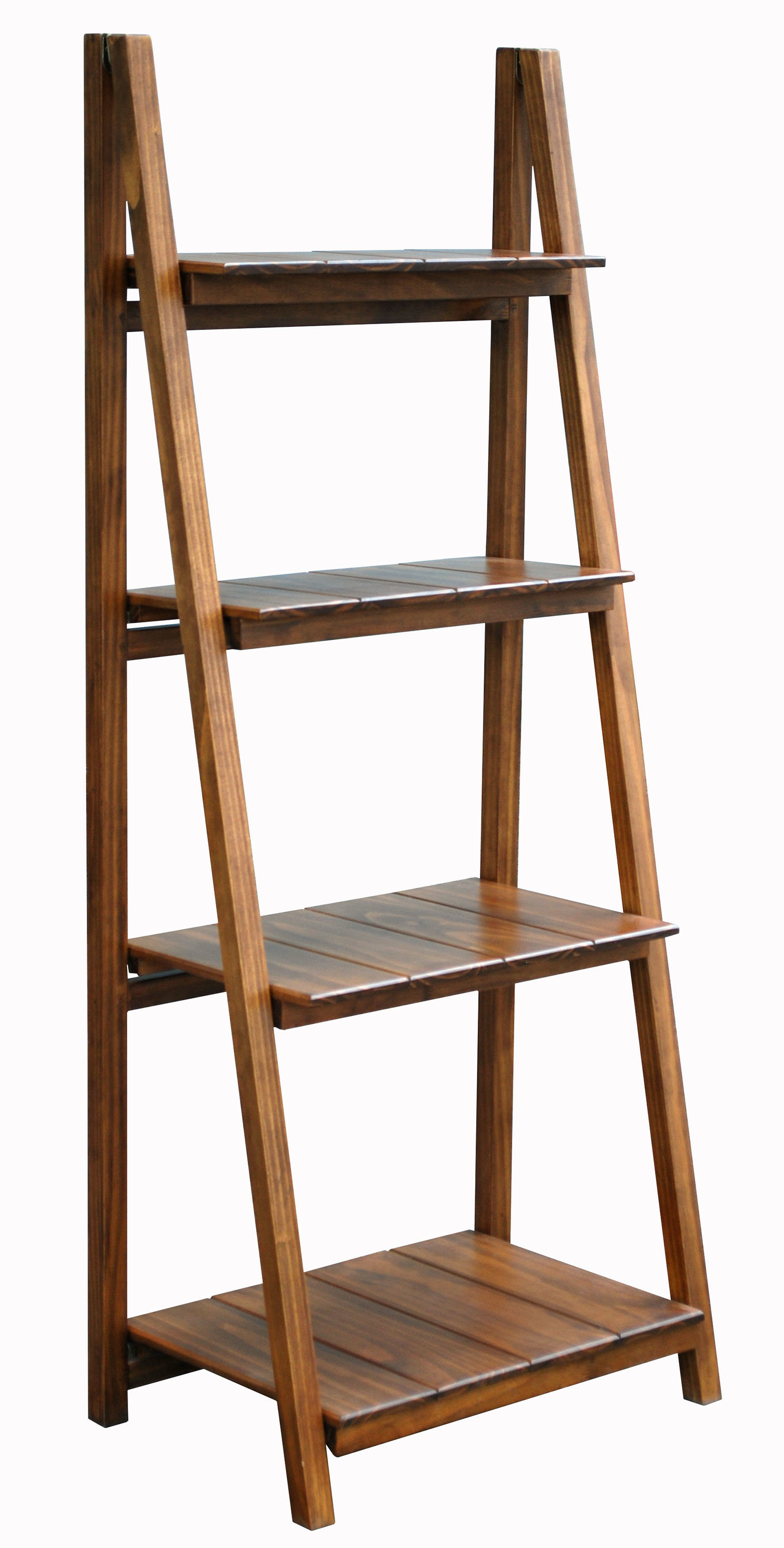 Andover Mills Bordelon Slatted Ladder Bookcase & Reviews In Well Known Brock Ladder Bookcases (View 3 of 20)