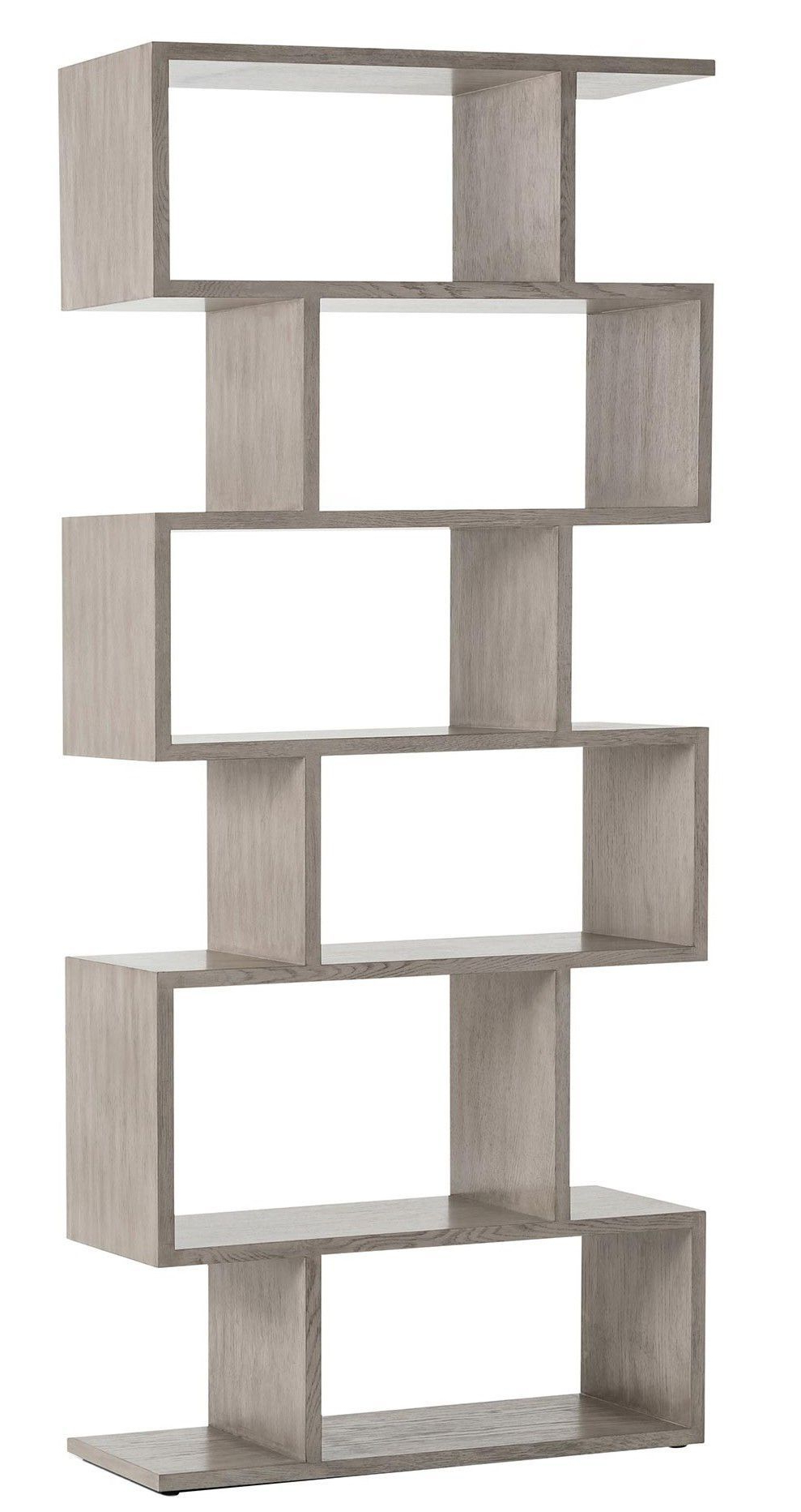Ansley Geometric Bookcases Regarding Most Popular This Contemporary Wood Bookshelf Adds Instant Style Points (View 2 of 20)