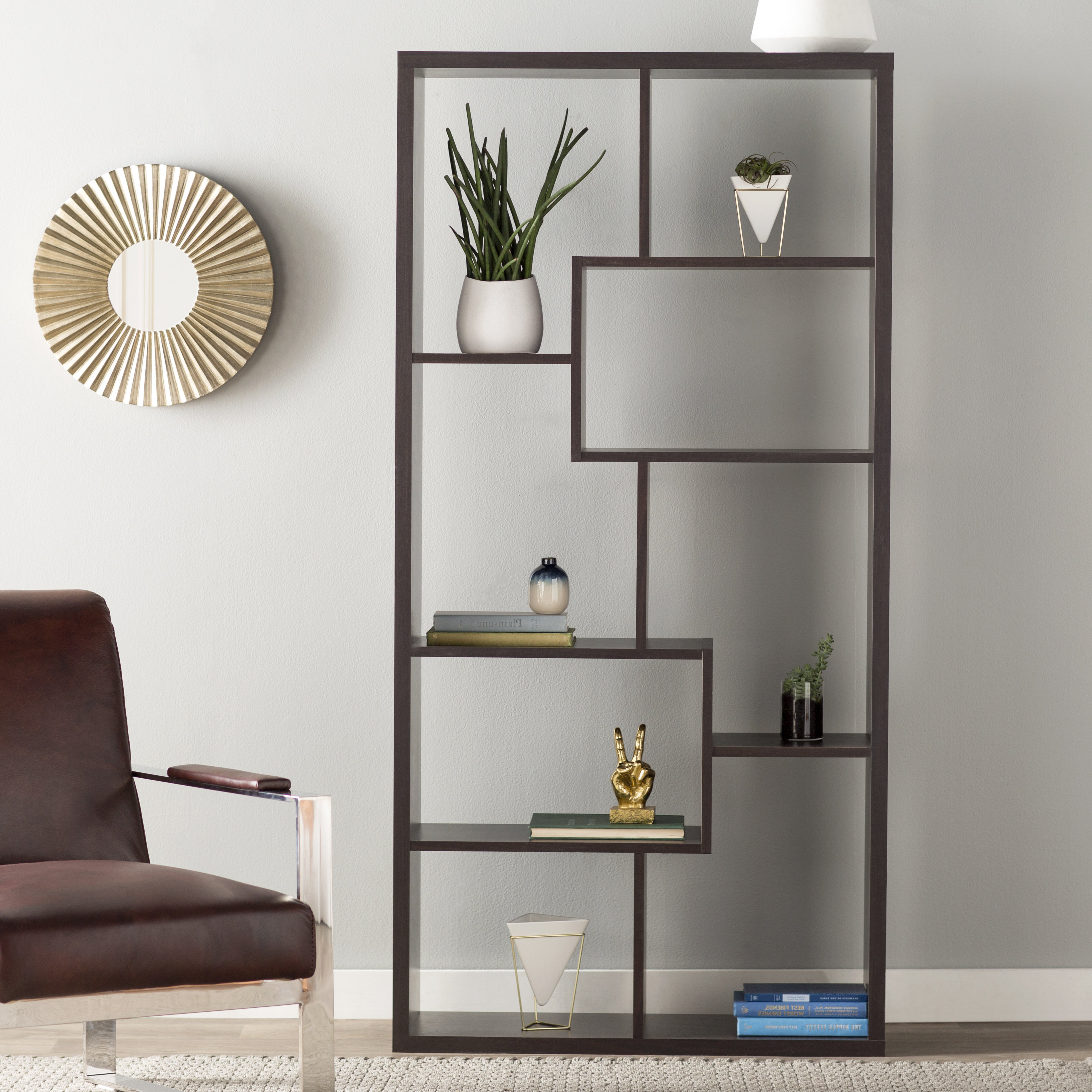 Ansley Geometric Bookcases Throughout Well Known Ervin Geometric Bookcase (View 3 of 20)