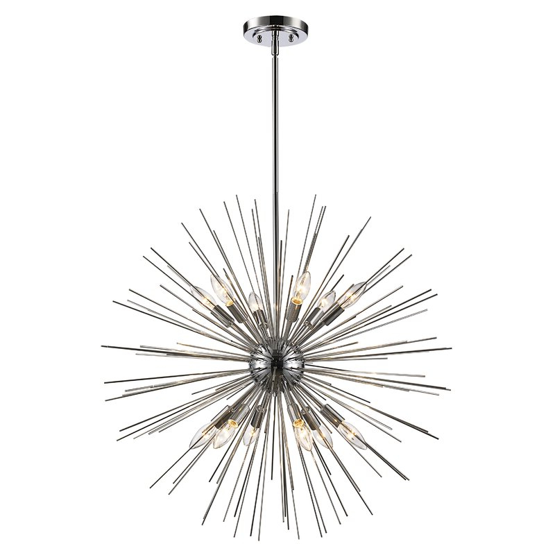 Antonie 12 Light Sputnik Chandelier Intended For Most Current Nelly 12 Light Sputnik Chandeliers (Gallery 9 of 25)