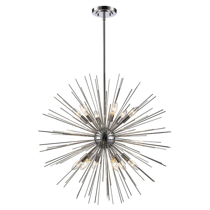 Antonie 12 Light Sputnik Chandelier Intended For Most Popular Corona 12 Light Sputnik Chandeliers (Gallery 11 of 25)