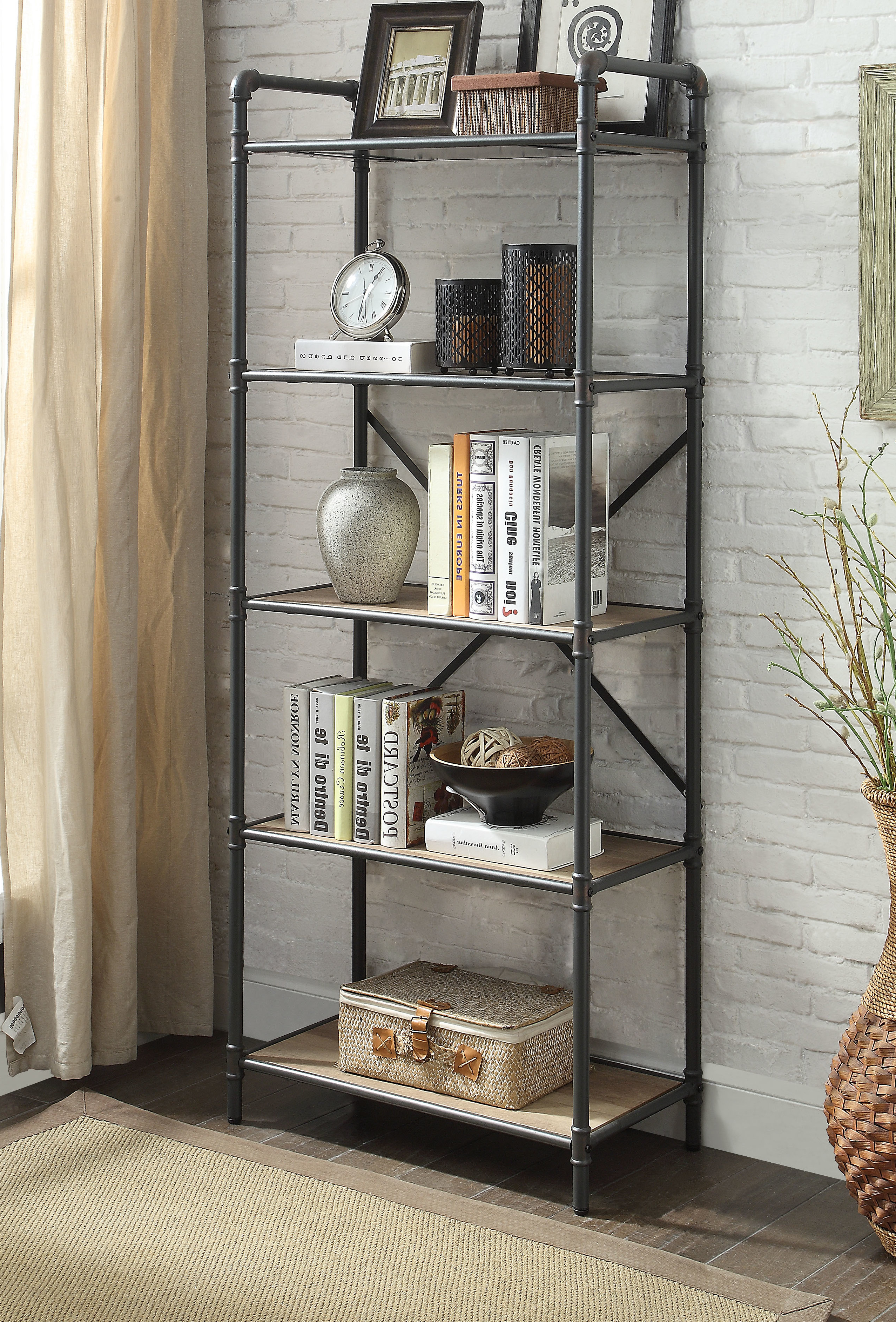 Aptos Etagere Bookcases Throughout Fashionable Concetta Etagere Bookcase (View 6 of 20)