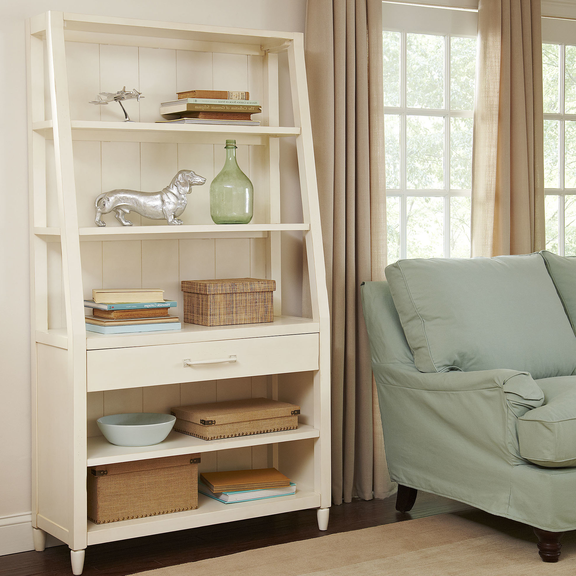 Ardenvor Etagere Standard Bookcases In Most Popular Coastal Bookcases & Bookshelves (View 12 of 20)