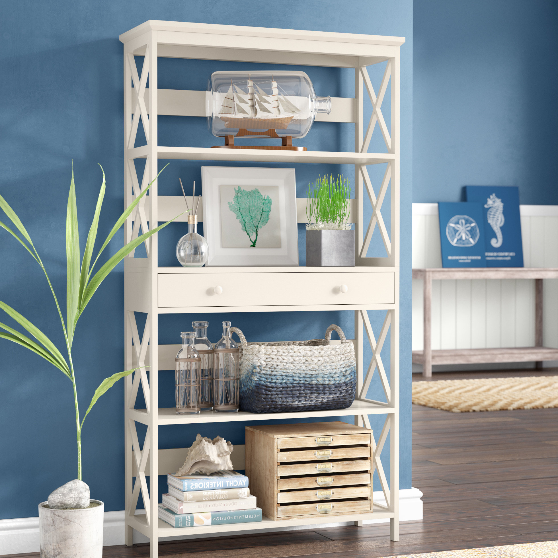 Ardenvor Etagere Standard Bookcases In Most Popular Gracelynn 5 Tier Etagere Bookcase (View 10 of 20)