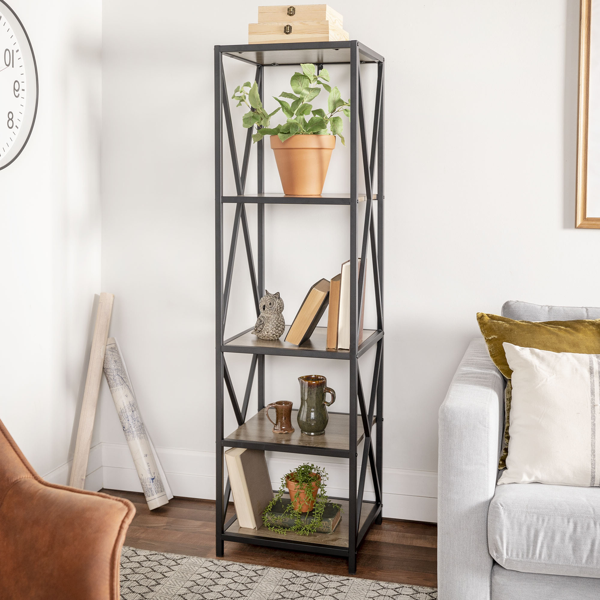 Augustus Etagere Bookcase With Regard To Well Liked Bowman Etagere Bookcases (View 1 of 20)