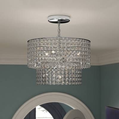 Aurore 4 Light Crystal Chandelier (View 3 of 25)