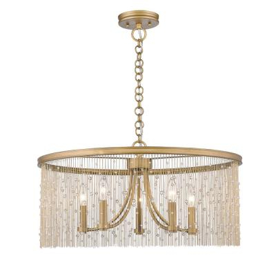 Aurore 4 Light Crystal Chandeliers With Regard To Most Recently Released Ore International Aurora 24.5 In (View 7 of 25)