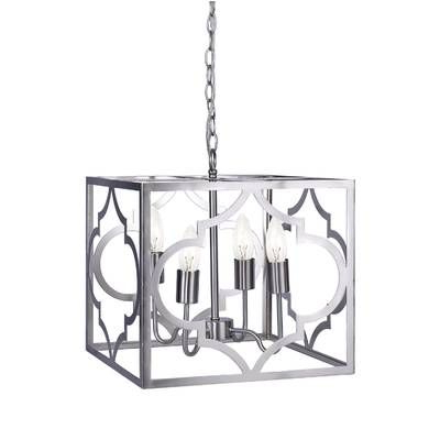 Avalyn Foyer 4 Light Square/rectangle Chandelier In 2019 For Preferred Morganti 4 Light Chandeliers (Gallery 19 of 25)