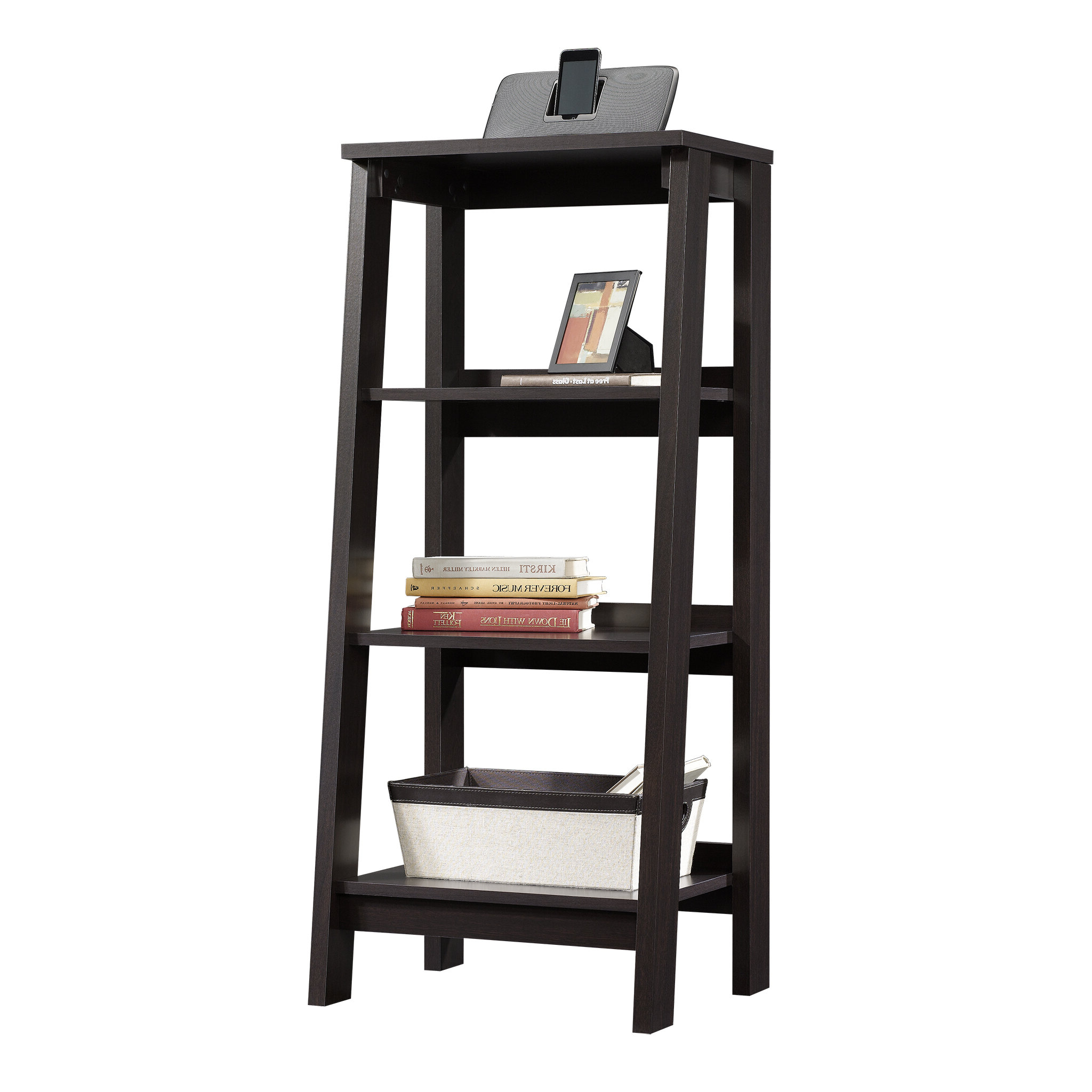 Averett Ladder Bookcases Regarding Current Massena Ladder Bookcase (View 19 of 20)