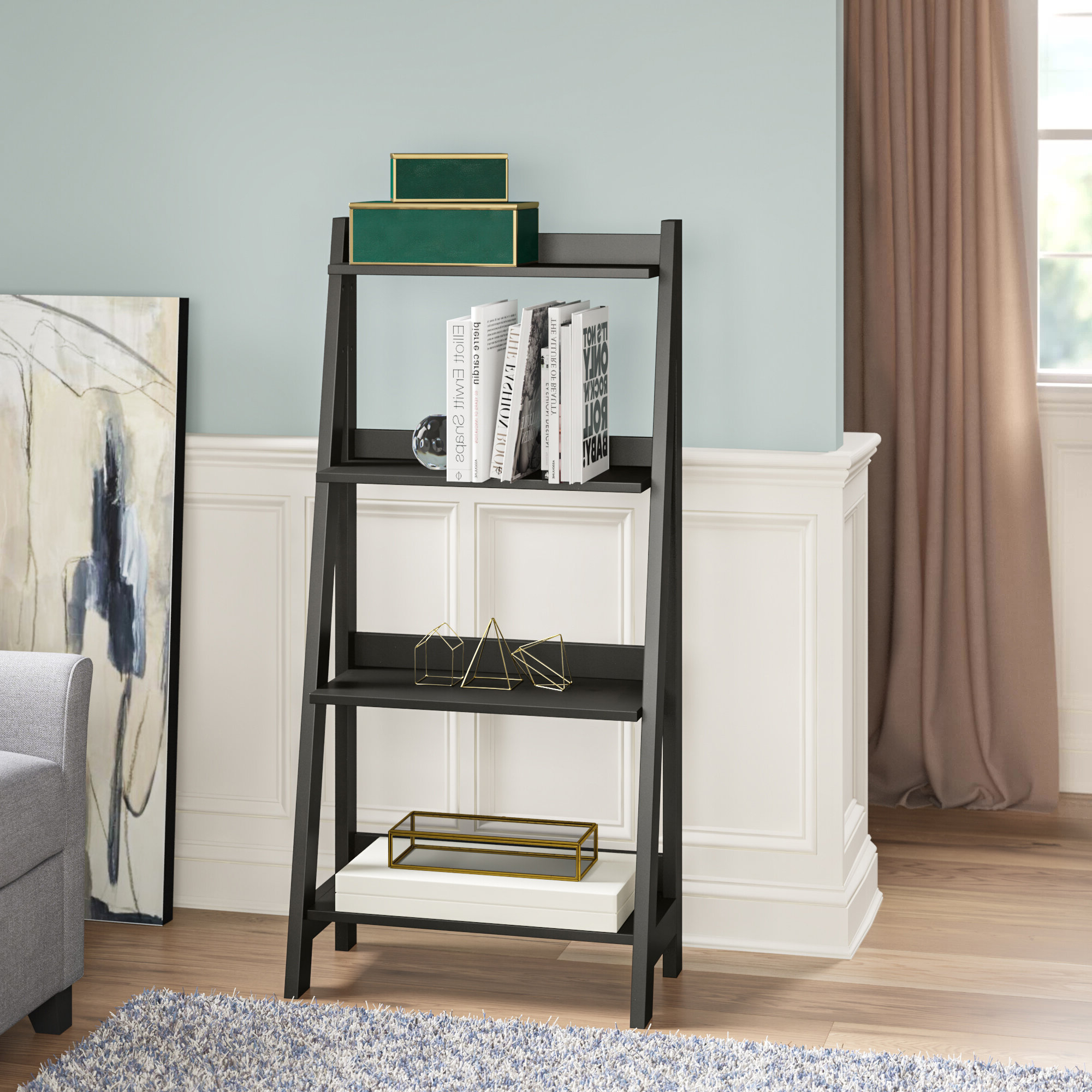 Averett Ladder Bookcases Throughout Current Riddleville Ladder Bookcase & Reviews (View 8 of 20)
