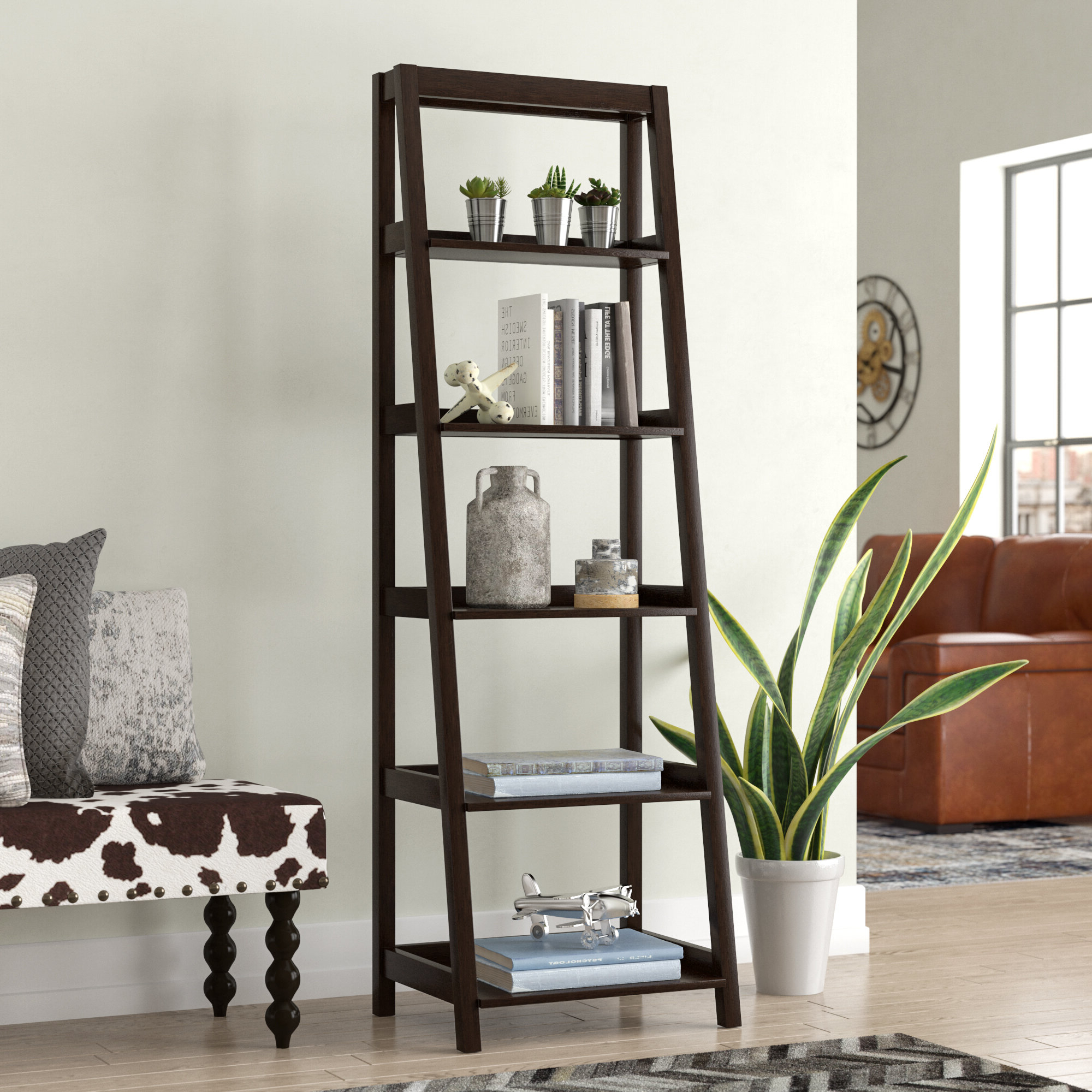 Averett Ladder Bookcases Throughout Most Current Adelle Ladder Bookcase (View 14 of 20)