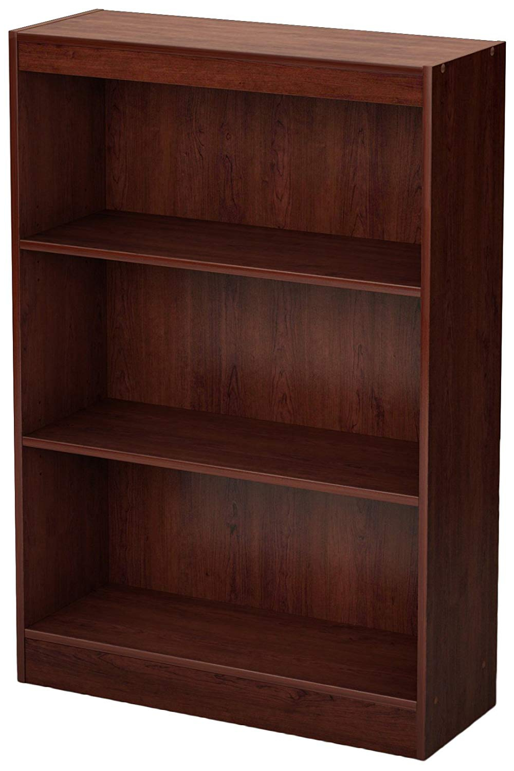 Axess Standard Bookcases Intended For Most Recent South Shore 3 Shelf Storage Bookcase, Royal Cherry (View 14 of 20)
