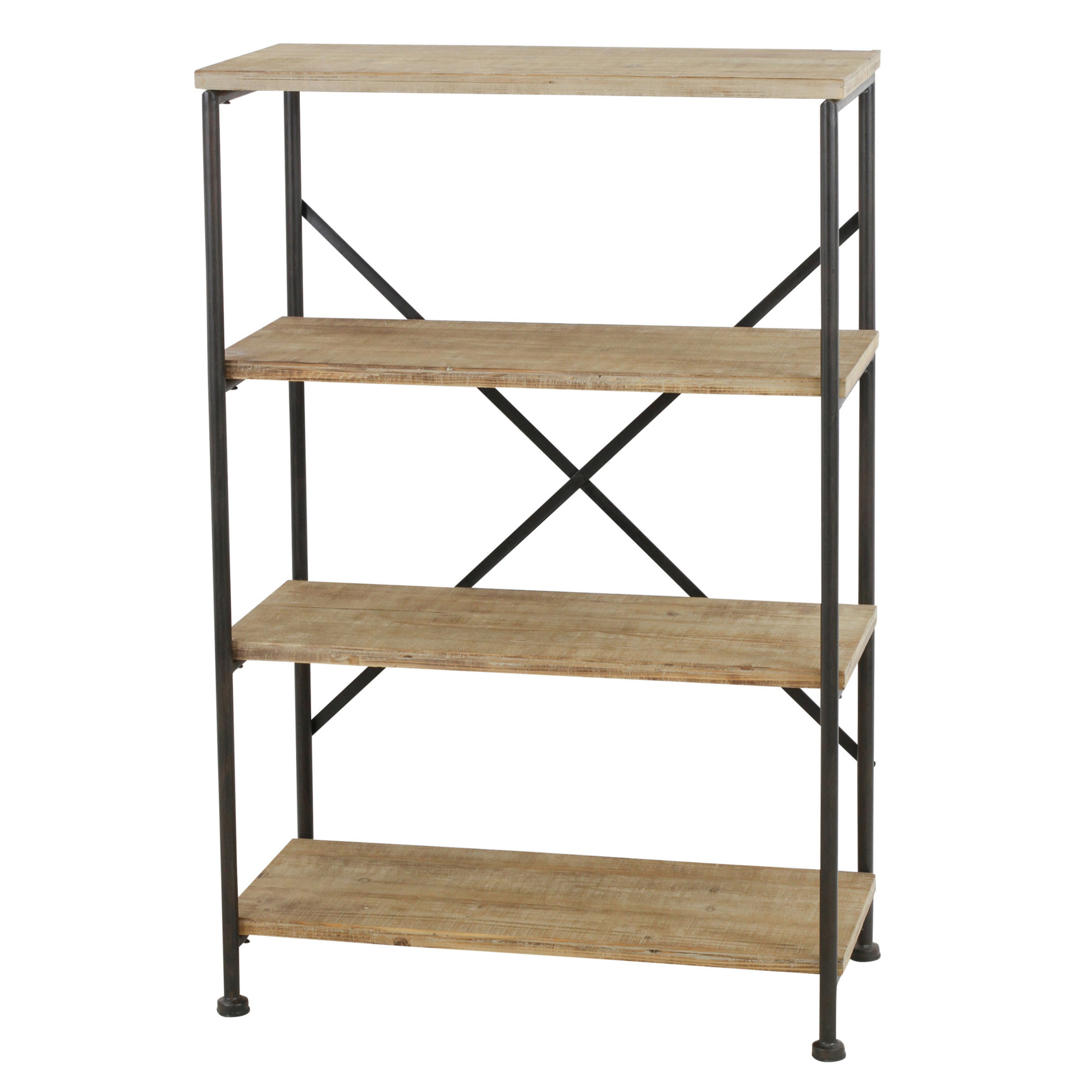 Babbitt Etagere Bookcases Intended For Most Popular Details About Gracie Oaks Vezina 4 Shelf Industrial Etagere Bookcase (View 4 of 20)