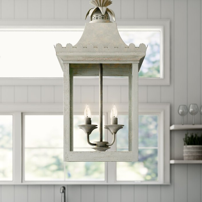 Baucom 4 Light Lantern Square / Rectangle Pendant Throughout Widely Used 4 Light Lantern Square / Rectangle Pendants (Gallery 14 of 25)