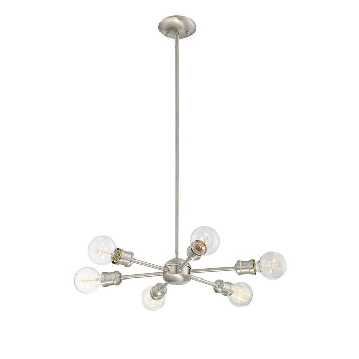 Bautista 6 Light Sputnik Chandelier Inside Well Liked Silvia 6 Light Sputnik Chandeliers (Gallery 6 of 25)