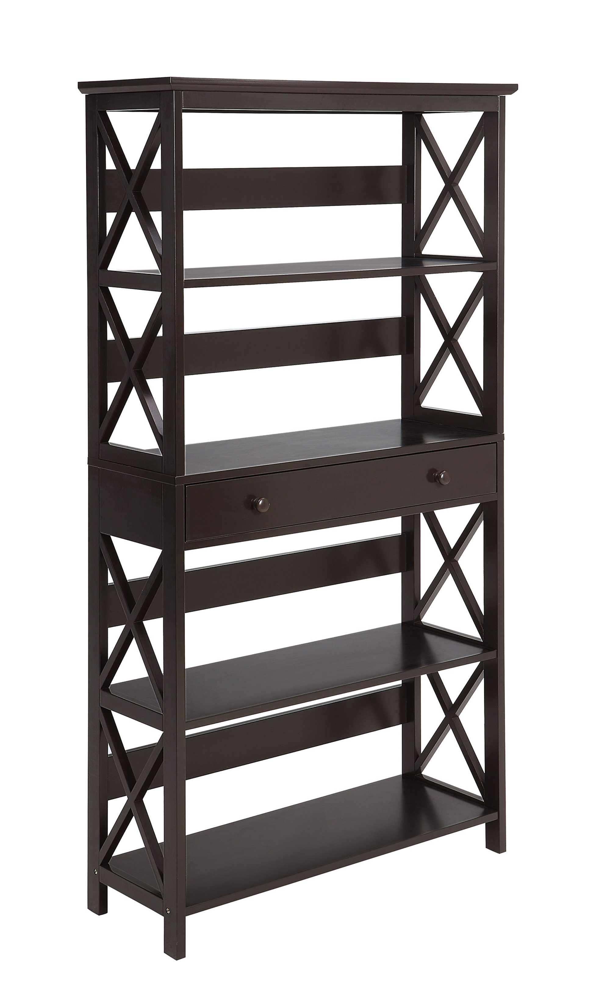 Beachcrest Home Gracelynn 5 Tier Etagere Bookcase Intended For Fashionable Gracelynn 5 Tier Etagere Bookcases (Gallery 9 of 20)