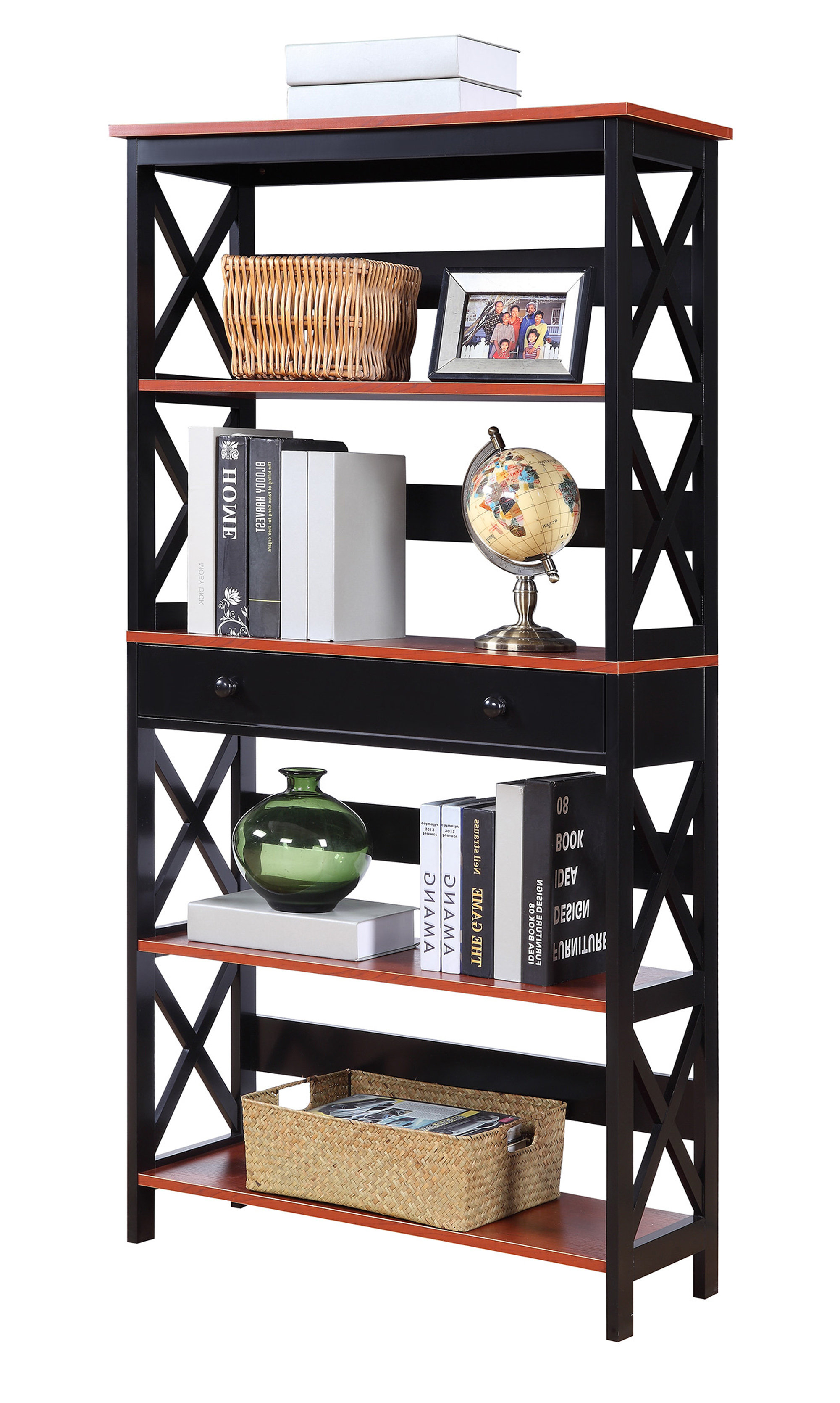 Beachcrest Home Gracelynn 5 Tier Etagere Bookcase Pertaining To Fashionable Gracelynn 5 Tier Etagere Bookcases (Gallery 10 of 20)