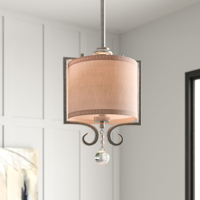 Beasley 1 Light Single Drum Pendant With Most Popular Tadwick 3 Light Single Drum Chandeliers (View 2 of 25)