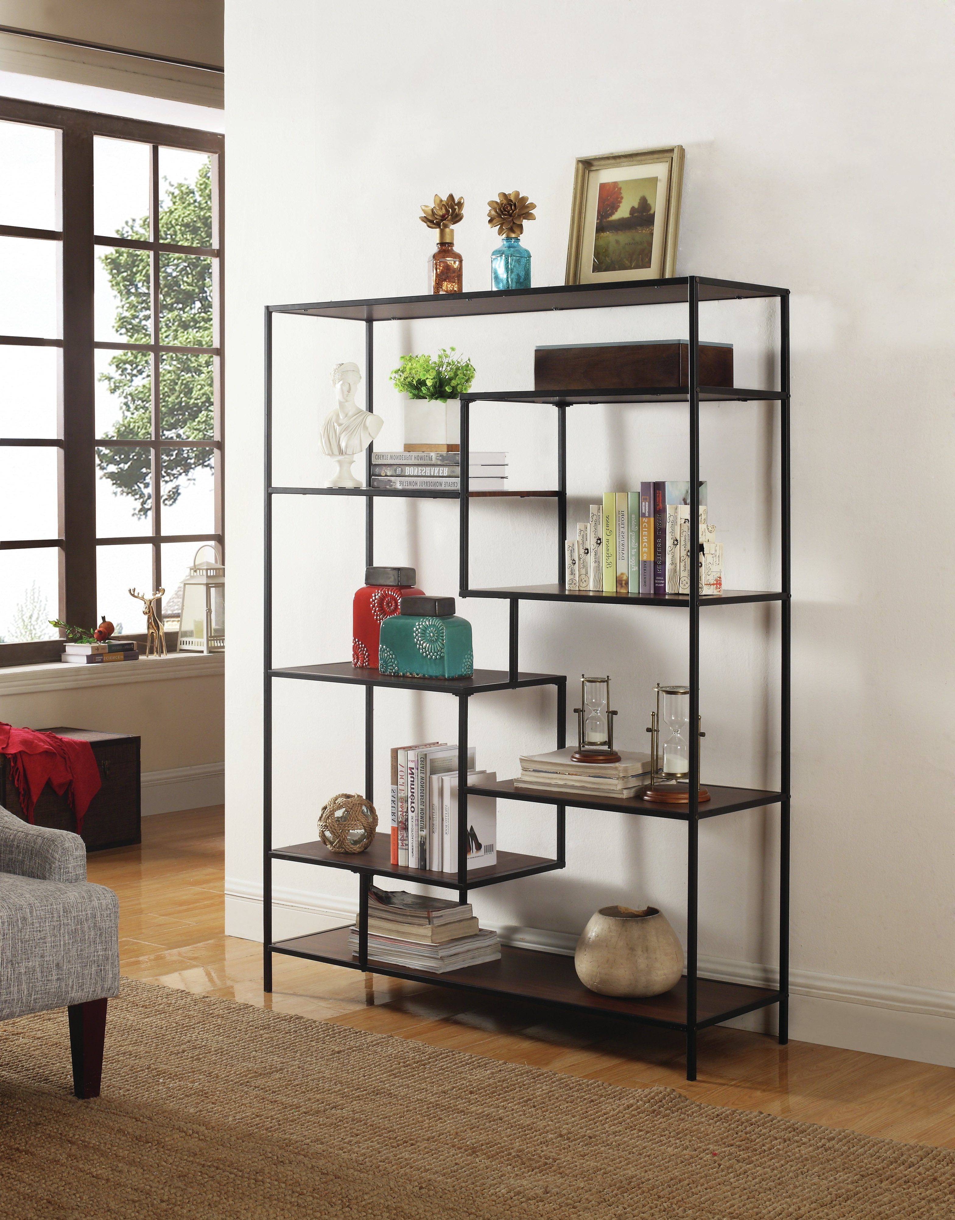 Beckett Etagere Bookcases In Preferred Modern Black Bookcases (View 14 of 20)