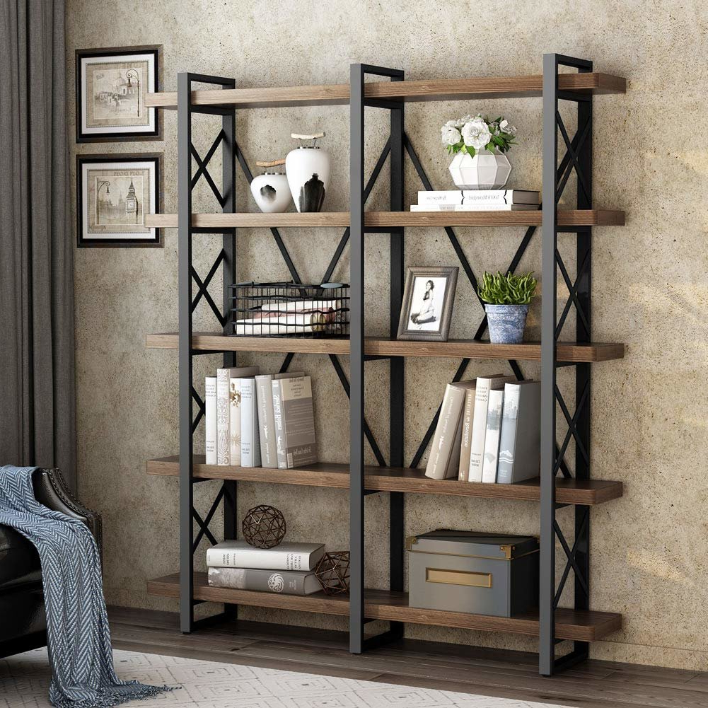 Beckwith Etagere Bookcases With Regard To Well Liked Hessler Solid Wood Wide Open Etagere Bookcase (View 4 of 20)