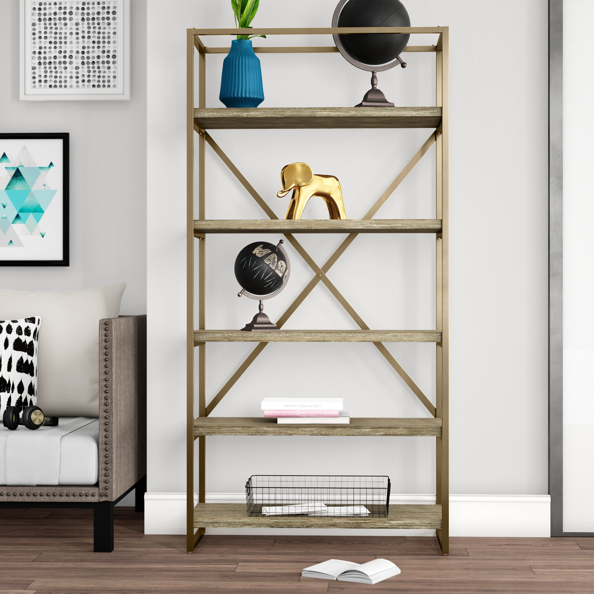 Beckwith Etagere Bookcases Within Recent Malone Etagere Bookcase (View 6 of 20)