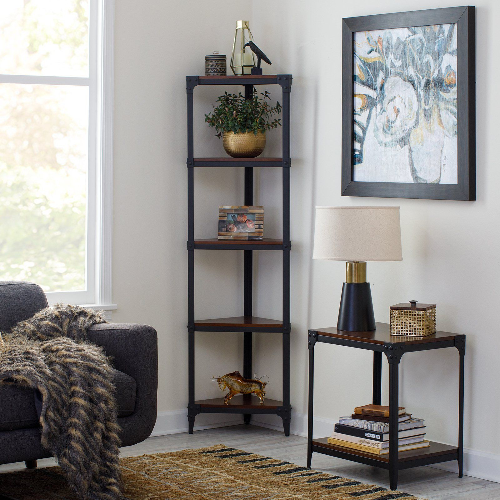 Belham Living Trenton Corner Bookcase In 2019 (Gallery 9 of 20)